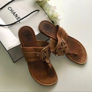 Tory Burch royal tan Amanda sandals sz 8